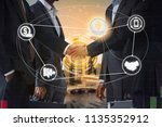 ethereum eth and cryptocurrency ...   Shutterstock . vector #1135352912