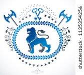 heraldic coat of arms... | Shutterstock .eps vector #1135354256