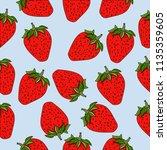strawberry seamless pattern.... | Shutterstock .eps vector #1135359605