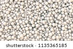 white pearls background. many...   Shutterstock . vector #1135365185