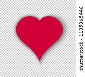 simple vector heart isolated on ... | Shutterstock .eps vector #1135365446