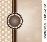 decorative frame in vintage... | Shutterstock .eps vector #1135365755