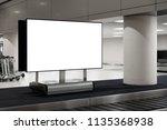 blank white screen advertising... | Shutterstock . vector #1135368938