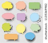 retro speech bubble with... | Shutterstock .eps vector #1135369982