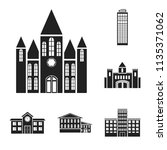 building and architecture black ... | Shutterstock .eps vector #1135371062