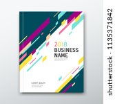 cover business book abstract...   Shutterstock .eps vector #1135371842