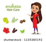 an indian woman wearing a...   Shutterstock .eps vector #1135385192