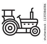 a heavy engineering vehicle in ... | Shutterstock .eps vector #1135386086