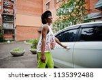amazing african american model... | Shutterstock . vector #1135392488