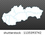 map of slovakia. vector... | Shutterstock .eps vector #1135393742