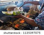 cocking satay padang  a... | Shutterstock . vector #1135397075