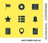 vector illustration of 9 web...