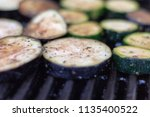 close up view in grilled... | Shutterstock . vector #1135400522
