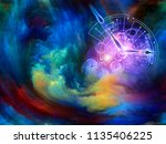 abstract background of clock... | Shutterstock . vector #1135406225