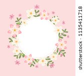 floral greeting card and... | Shutterstock .eps vector #1135411718