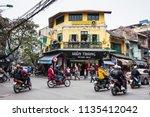 hanoi vietnam   dec 2017  one...   Shutterstock . vector #1135412042
