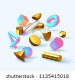 creative design poster  minimal ... | Shutterstock .eps vector #1135415018