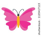butterfly with wings making a... | Shutterstock .eps vector #1135417115