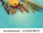 jewish festival of sukkot....   Shutterstock . vector #1135419875