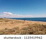 sandy beach of black sea in... | Shutterstock . vector #1135419962