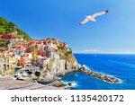 manarola  italy  national park... | Shutterstock . vector #1135420172