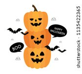 happy halloween. autumn  fall.... | Shutterstock .eps vector #1135422365