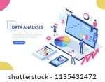 data analysis concept with... | Shutterstock .eps vector #1135432472
