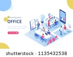 people in coworking office... | Shutterstock .eps vector #1135432538
