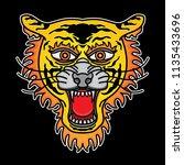 tiger head traditional tattoo ... | Shutterstock .eps vector #1135433696