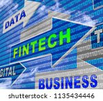 fin tech financial technology... | Shutterstock . vector #1135434446