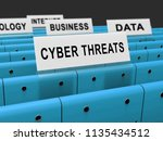cyber threat intelligence... | Shutterstock . vector #1135434512