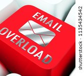 email overload spam... | Shutterstock . vector #1135434542