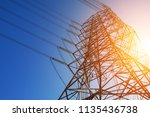 high voltage post or high...   Shutterstock . vector #1135436738