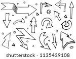 handdrawn arrows set doodle...   Shutterstock .eps vector #1135439108