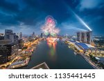 2018 singapore national day... | Shutterstock . vector #1135441445