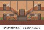 corridor in a block of flats...   Shutterstock .eps vector #1135442678