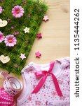 baby girl background    | Shutterstock . vector #1135444262