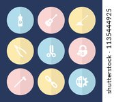 set of 9 metal filled icons... | Shutterstock .eps vector #1135444925