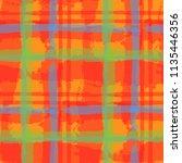 plaid. seamless grunge pattern... | Shutterstock .eps vector #1135446356