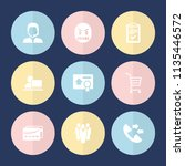 set of 9 customer filled icons... | Shutterstock .eps vector #1135446572