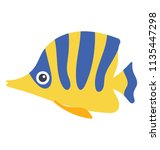 a fish with board stripes... | Shutterstock .eps vector #1135447298