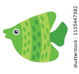 a beautiful asian fish with... | Shutterstock .eps vector #1135447382