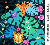 beautiful seamless pattern with ... | Shutterstock .eps vector #1135452158