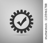 gear with check mark icon... | Shutterstock .eps vector #1135461788