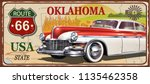oklahoma vintage metal sign ... | Shutterstock .eps vector #1135462358