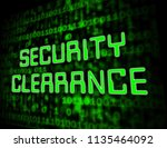 security clearance... | Shutterstock . vector #1135464092