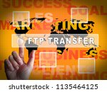ftp file transfer transferring...   Shutterstock . vector #1135464125