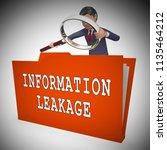 information leakage unprotected ... | Shutterstock . vector #1135464212