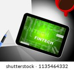 fin tech financial technology... | Shutterstock . vector #1135464332