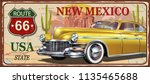 new mexico vintage metal sign ... | Shutterstock .eps vector #1135465688